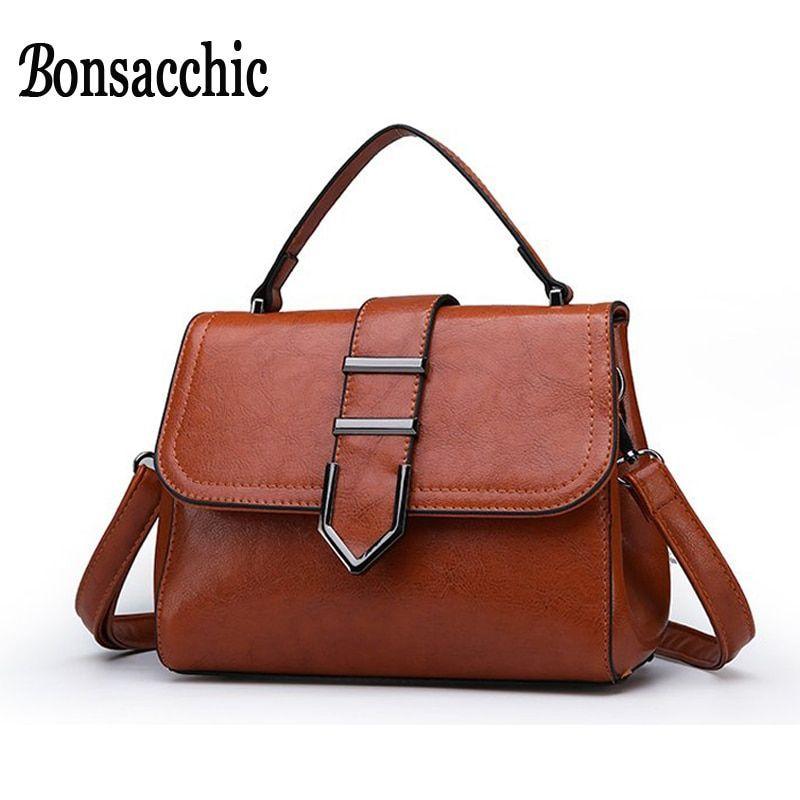 aeb1bb139521 Bonsacchic Small Women s Brown Handbag Summer Female Shoulder Bags Handbags  Women Famous Brand Lady s Hand Bag