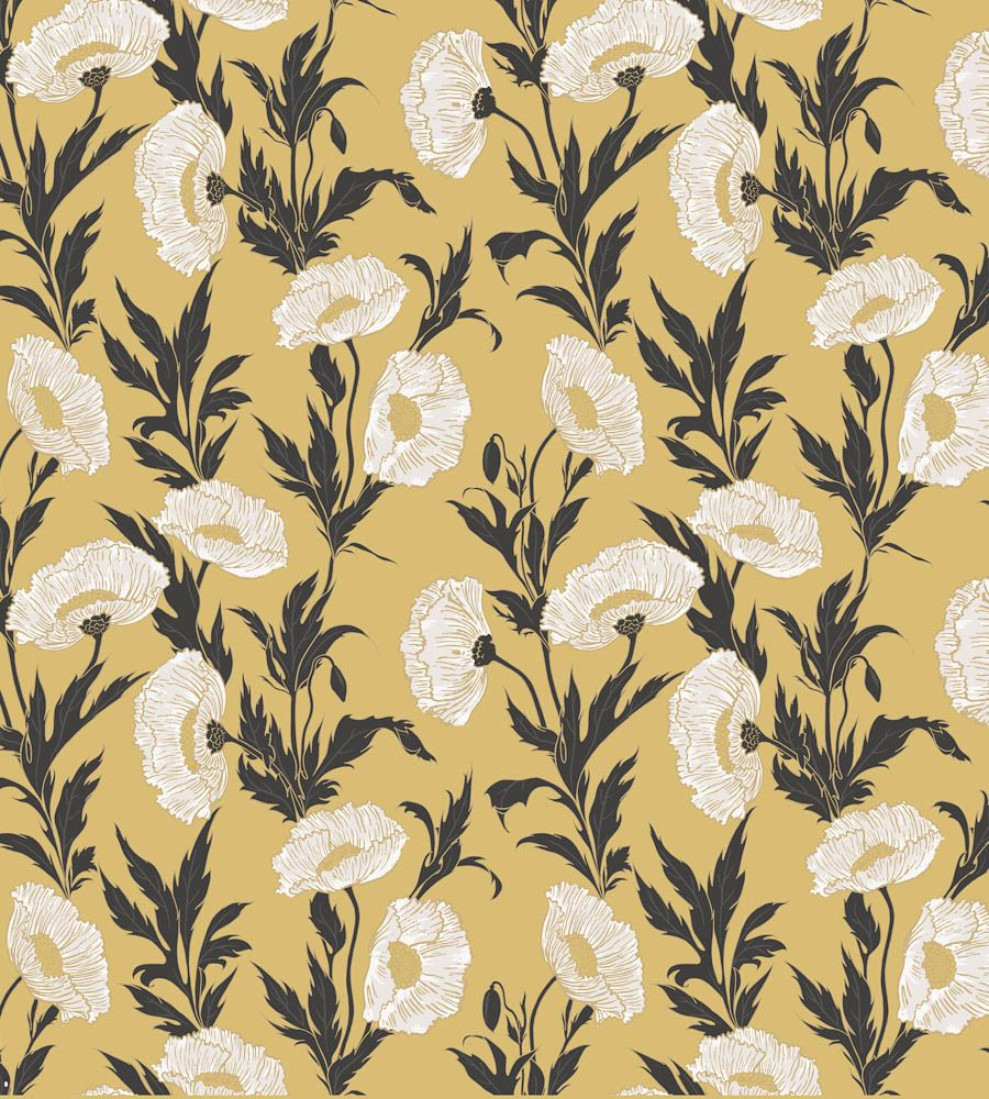 art nouveau flowers wallpaper - Google Search | F17 Laura Scott ...