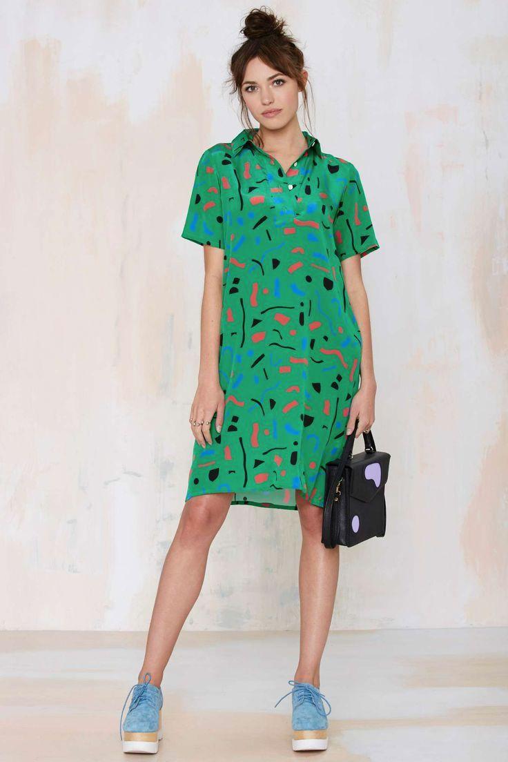 Modern Colorist | Shop The Rainbow | Dusen Dusen Confetti City Silk Dress