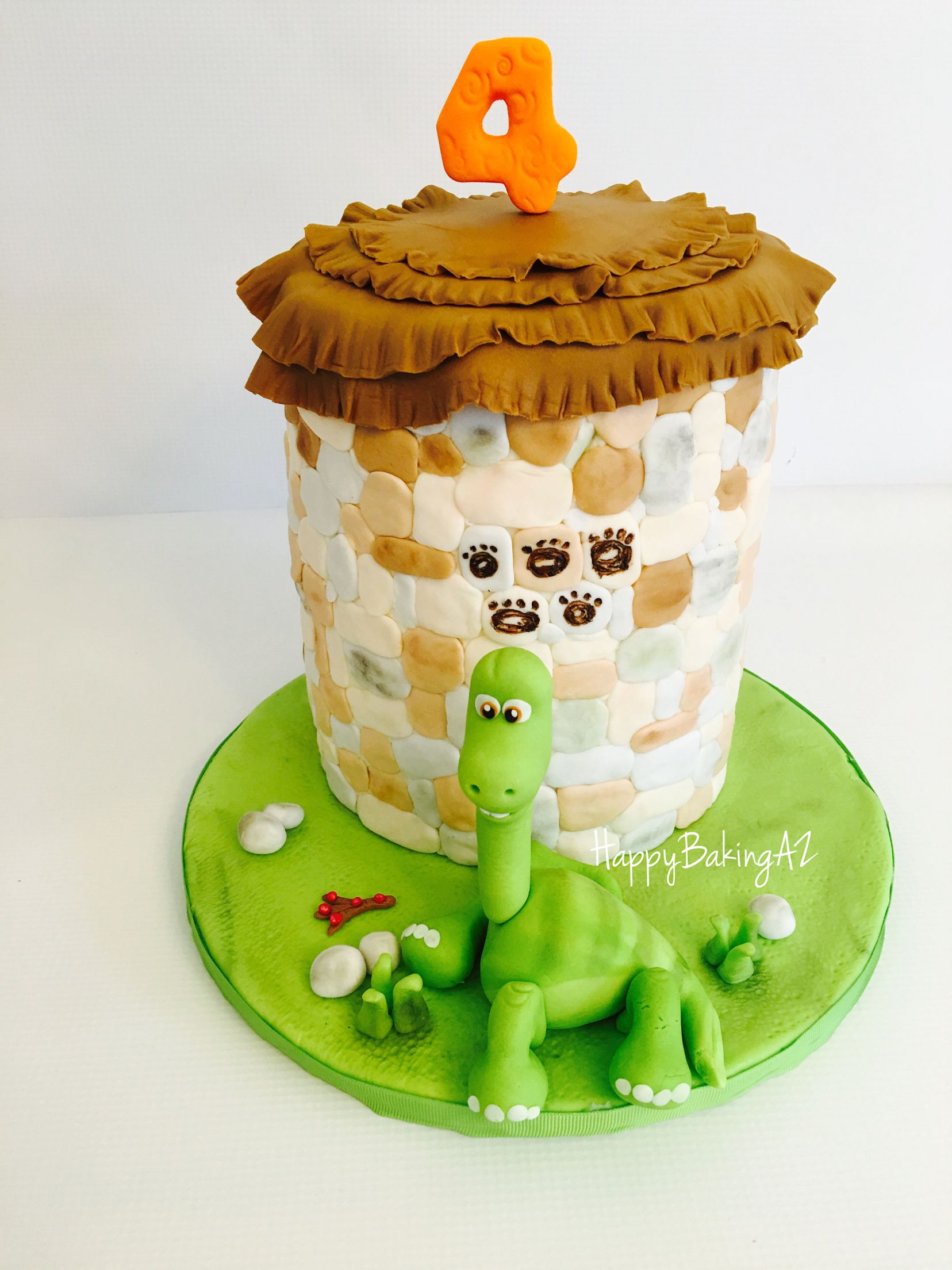 The good dinosaur cake Arlo is handmade and all edible Birthday