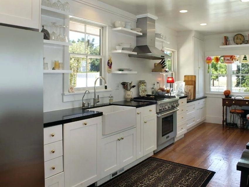 Best One Wall Kitchen One Wall Kitchen With White Shaker 400 x 300