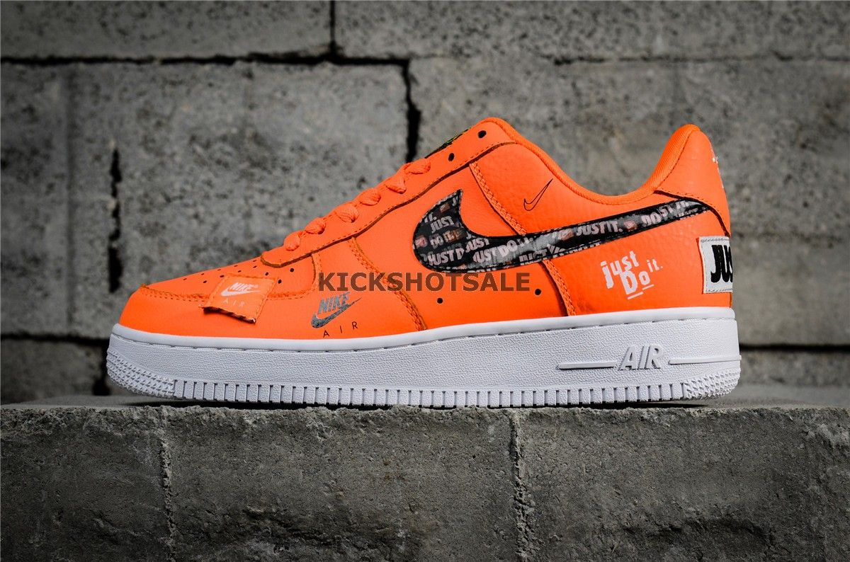 "big sale 9046e e826c Nike Air Force 1 07 PRM Orange ""Just Do It"" Collection 905345-80019 - Air  Force - Nike"
