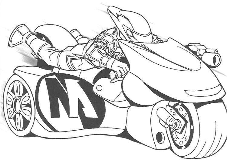 Action Man Drive Sport Motorcycle Coloring Page Desenhos Para