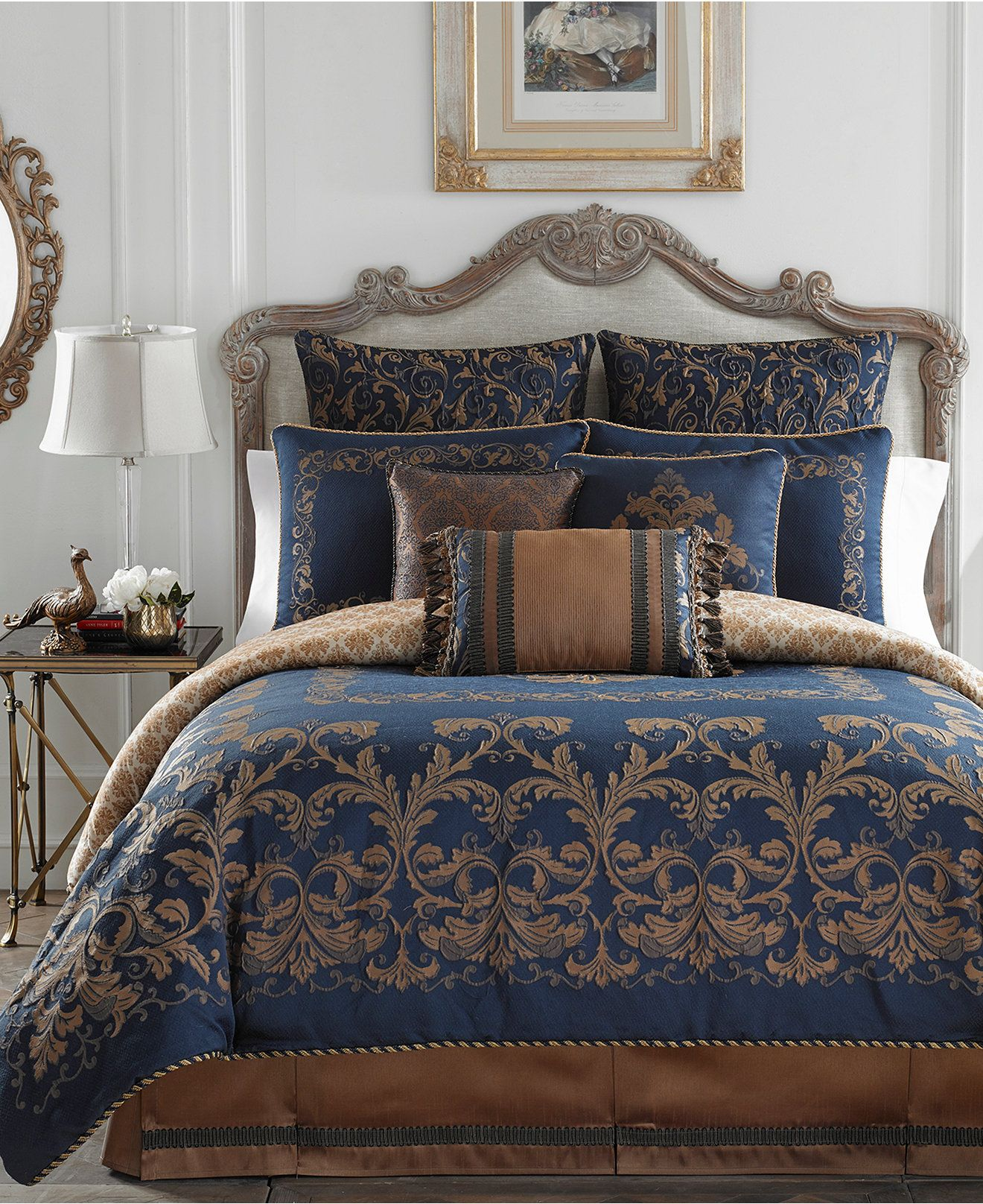 Croscill Monroe Blue Bedding Collection Bedding Collections Bed