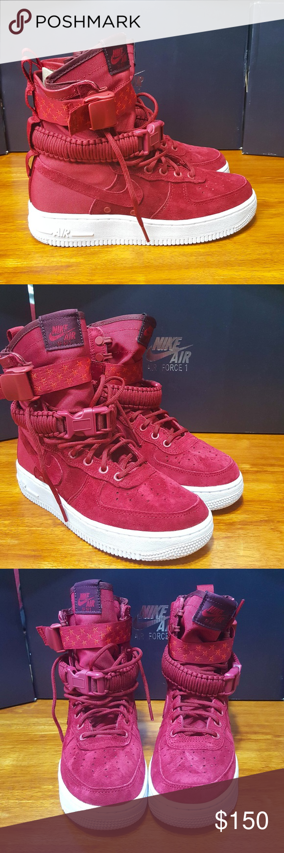 7b8c4ef9379 Nike Women's SF AF1 Air Force 1 Red Crush 857872 Women's Nike SF AF1  Special Forces