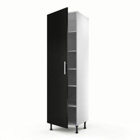 meuble de cuisine colonne noir 1 porte