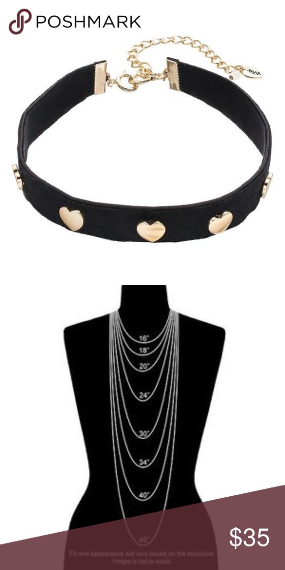 0a6067951e150 Juicy Couture Black Boho Festival Heart Choker A dazzling heart ...