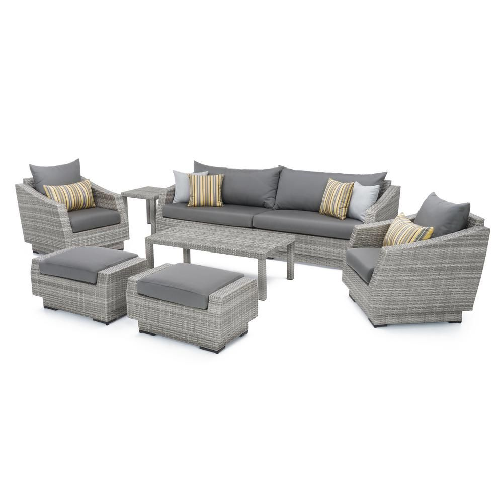 rst brands cannes 8 piece all weather wicker patio sofa and club rh in pinterest com
