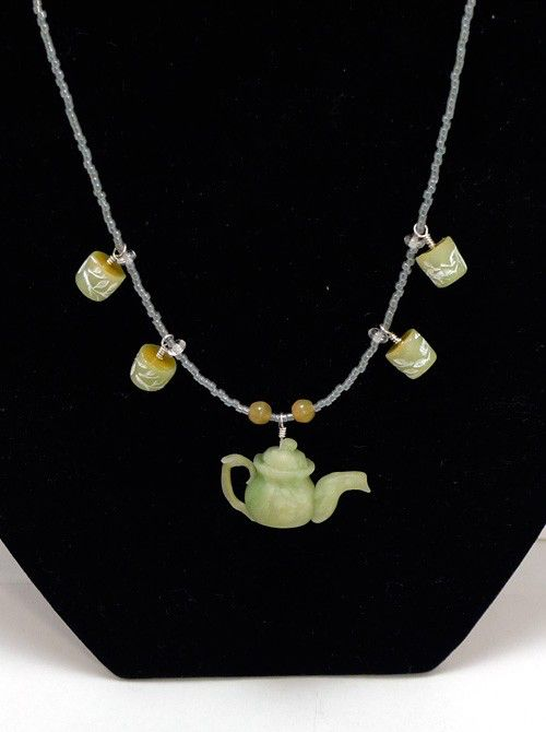 Green Tea Jewelry Set by CatJester on Etsy https://www.etsy.com/listing/68108880/green-tea-jewelry-set
