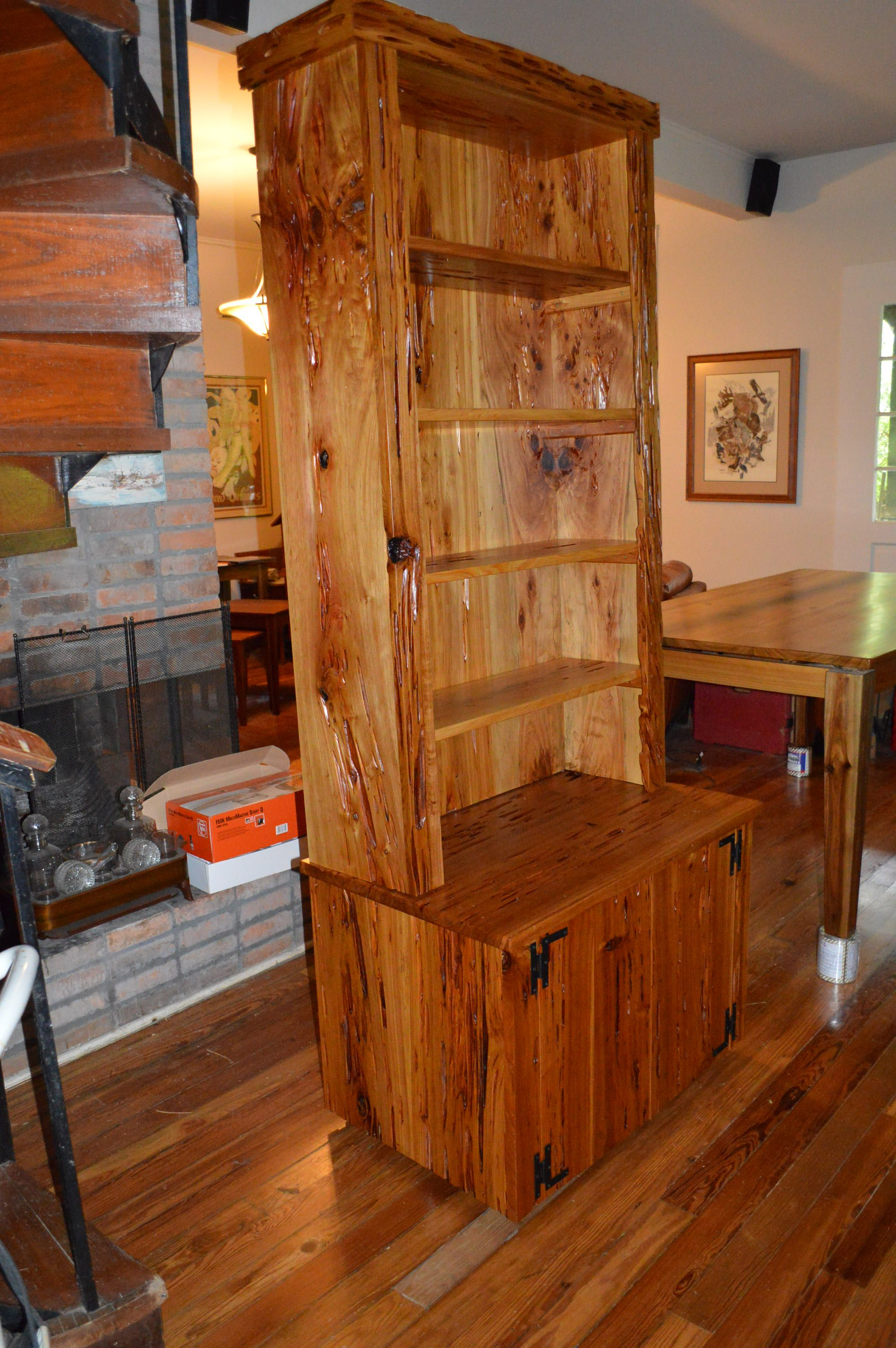 Pecky Cypress China Cabinet Don Hostetlers Fine Cypress Furniture Jpg  2000x3008 Rustic Outdoor Cypress Cabinets