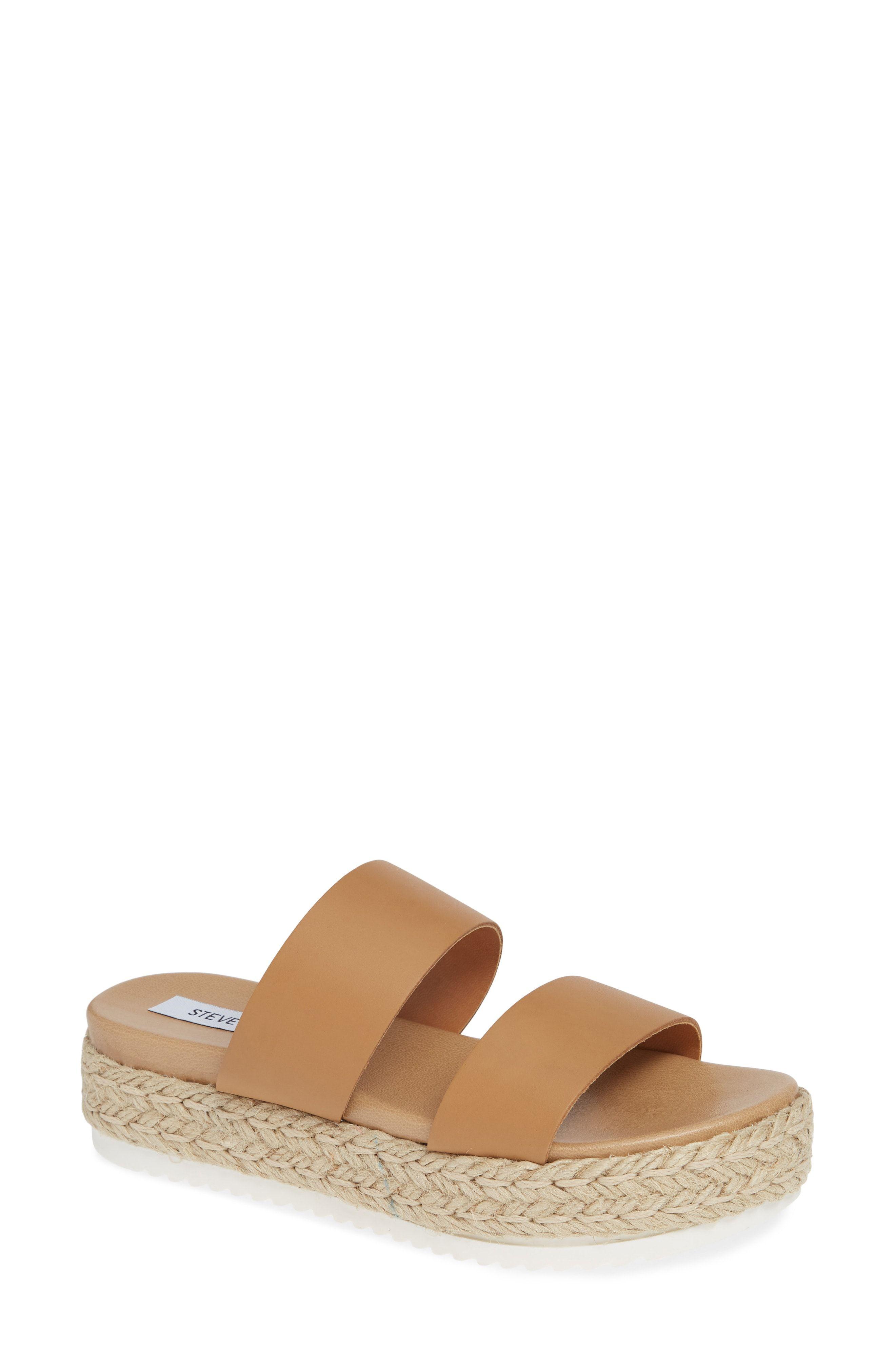 Flat shoes women, Slide sandals