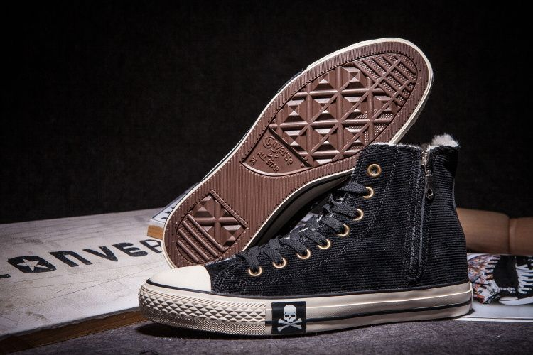 8f7488f0f32e  converse Converse Skull Black Winter Chuck Taylor All Star High Tops  Womens Shoes