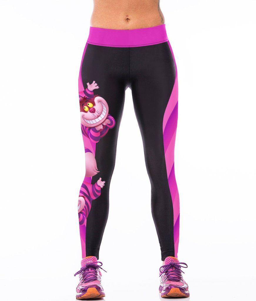 2c0c33a7bcc6b Cheshire Cat Leggings | Leggings | Sports leggings, Workout leggings ...
