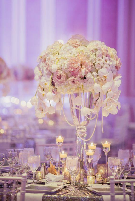 pink and white flower glass vase wedding reception centerpiece rh pinterest com