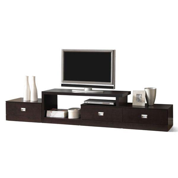 marconi brown asymmetrical modern tv stand overstock shopping rh pinterest com