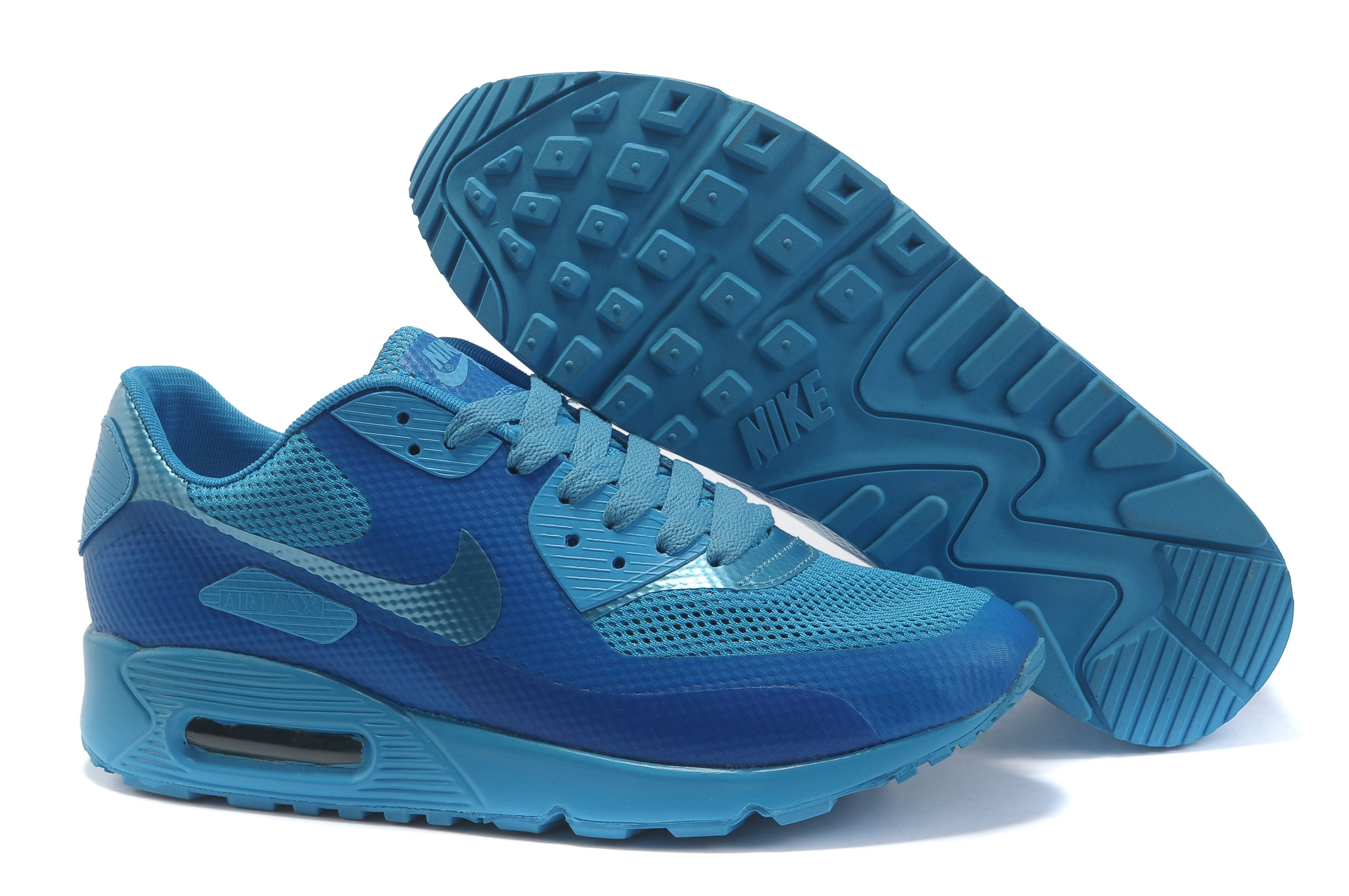 meet dc499 d093c Now Buy Discount Nike Air Max 90 Hyperfuse Womens Deepblue Blue Save Up  From Outlet Store at Footlocker.