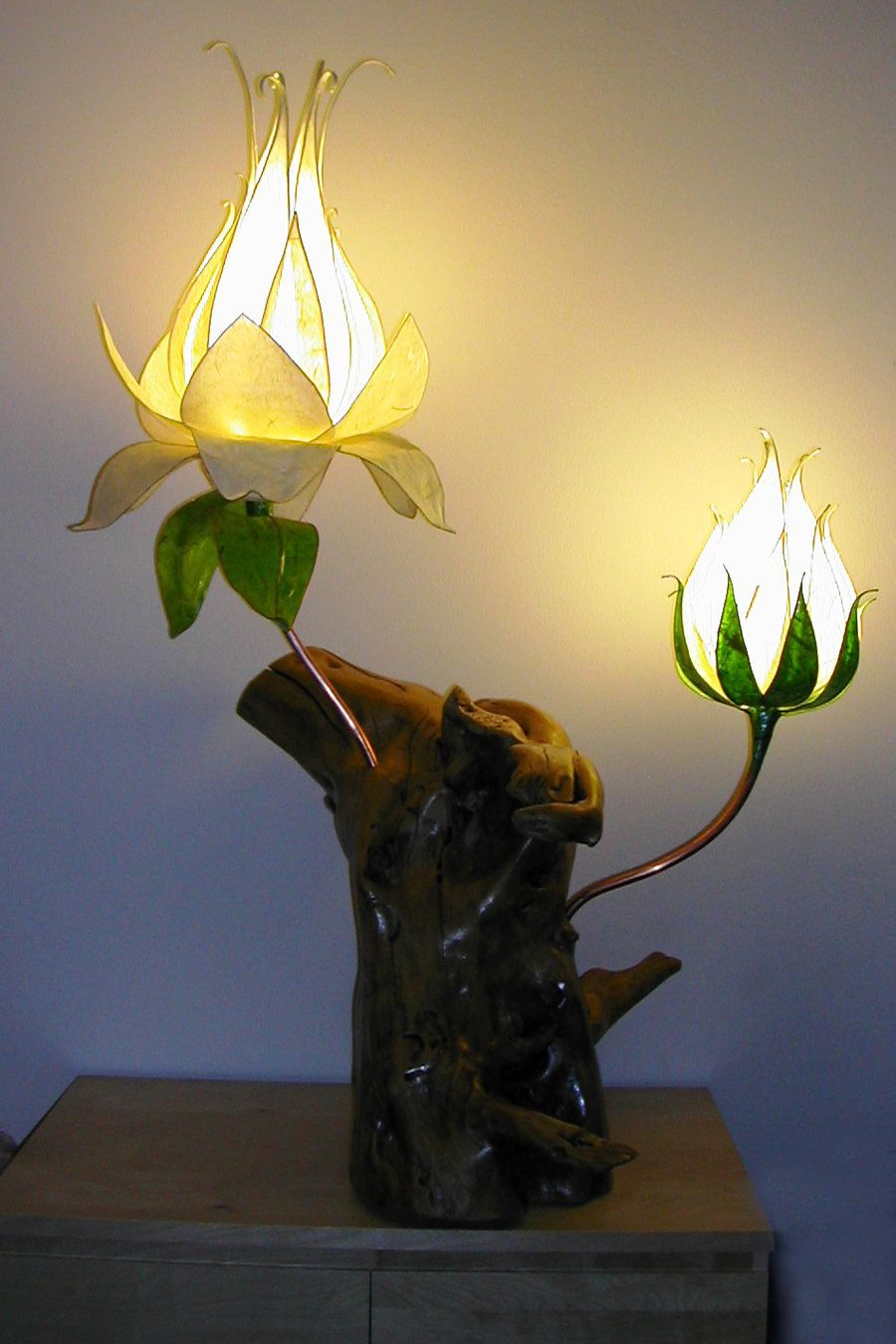 Fairy Flowers Double Ivory 1 Commission Flower Lamp Handmade Lamps Cool Lighting