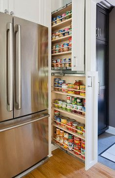 pantry storage mix of white and stained woods for the home rh pinterest com
