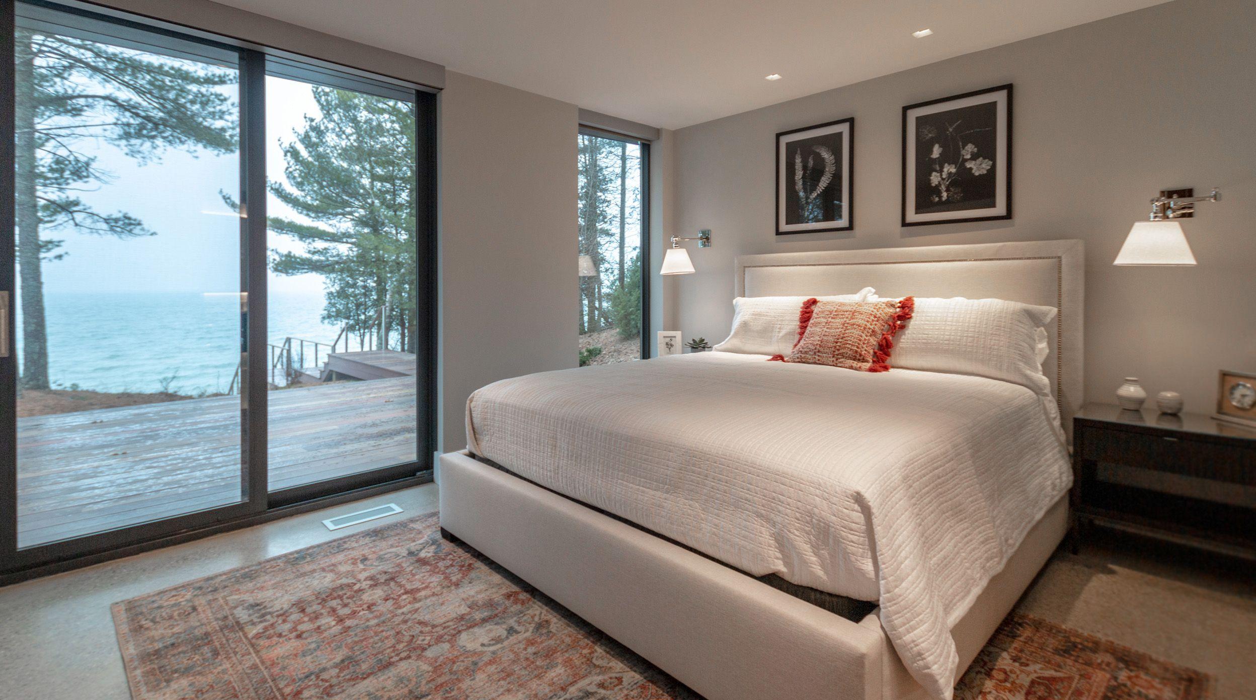 Bedroom design michigan cottage architecture and interior