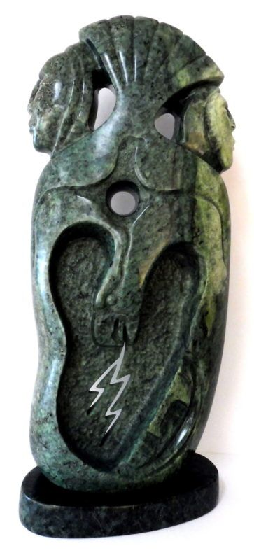 Leo arcand sculpture bearclaw gallery edmonton monster
