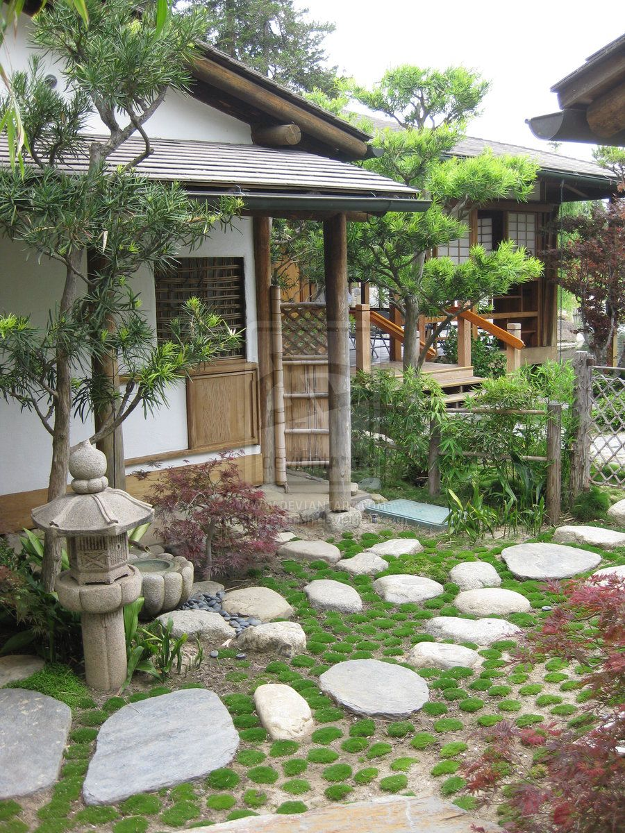 35 Modern Front Yard Landscaping Ideas With Urban Style: Japanese Garden Front Yard By ShipperTrish.deviantart.com On @deviantART