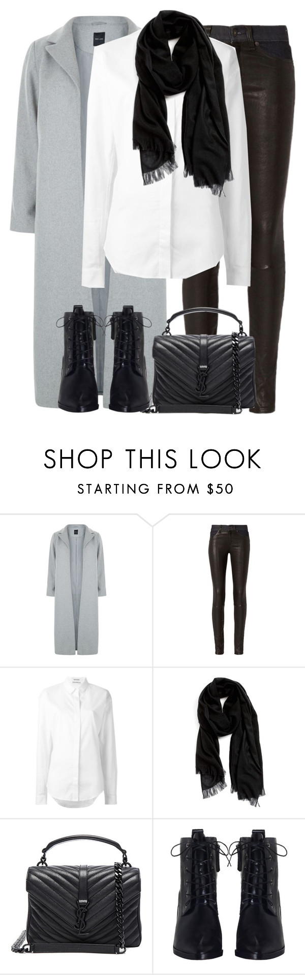 """""""Untitled #2928"""" by elenaday ❤ liked on Polyvore featuring New Look, rag & bone, Anthony Vaccarello, Nordstrom, Yves Saint Laurent and Zimmermann"""