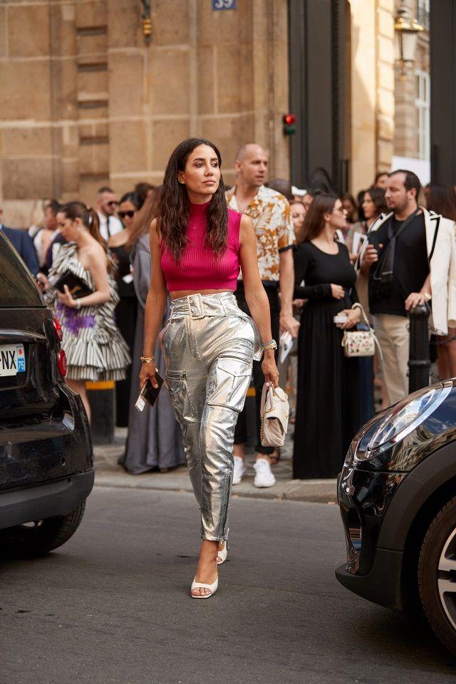 Tendencias Temporada: Prendas plateadas. Lo Mejor de Street Style #tejidos