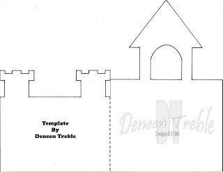 cut out castle template - castle card scrapbooking templates pinterest castles