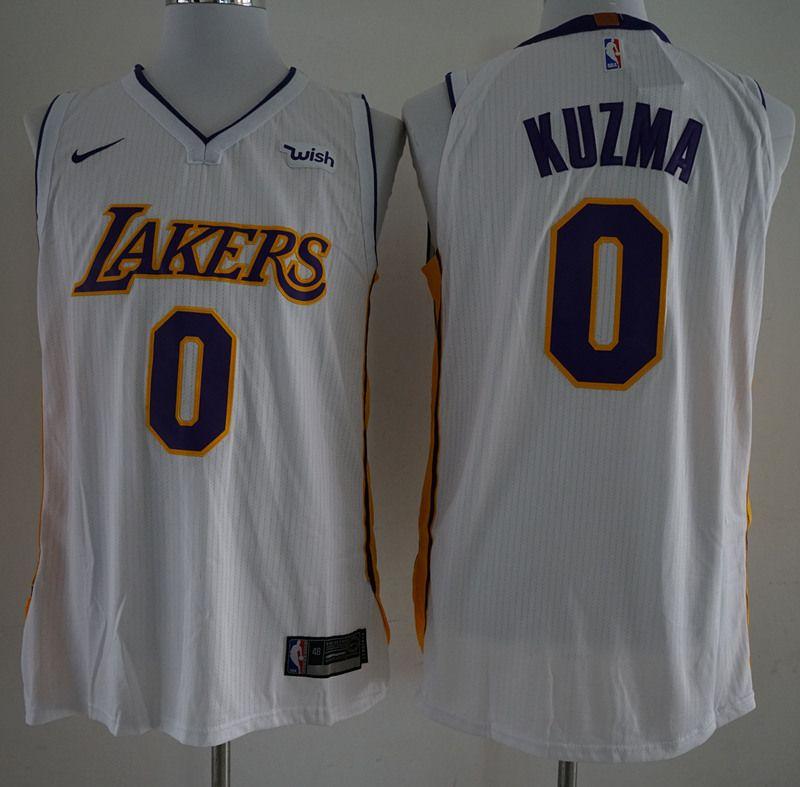 34ae7b546 ... Los Angeles Lakers by cheapjersey. 17-18 New Lakers 0 Kyle Kuzma White  Nike Player size S M L XL XXL XXXL