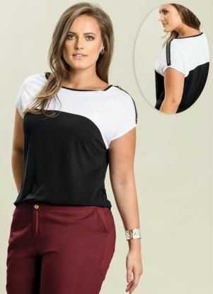 ae9cbd9e0 Gostei deste produto do Portal Posthaus! Blusa Plus Size | moda ...