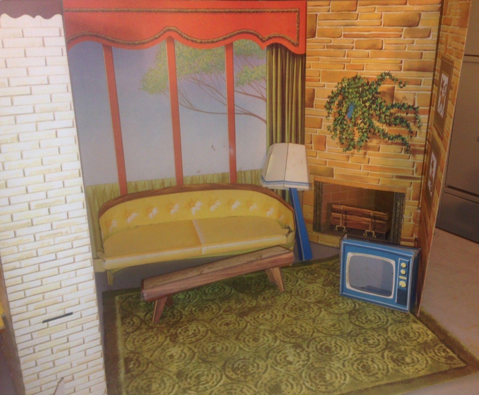 vintage 1963 barbie dream house by mattel cardboard doll house w