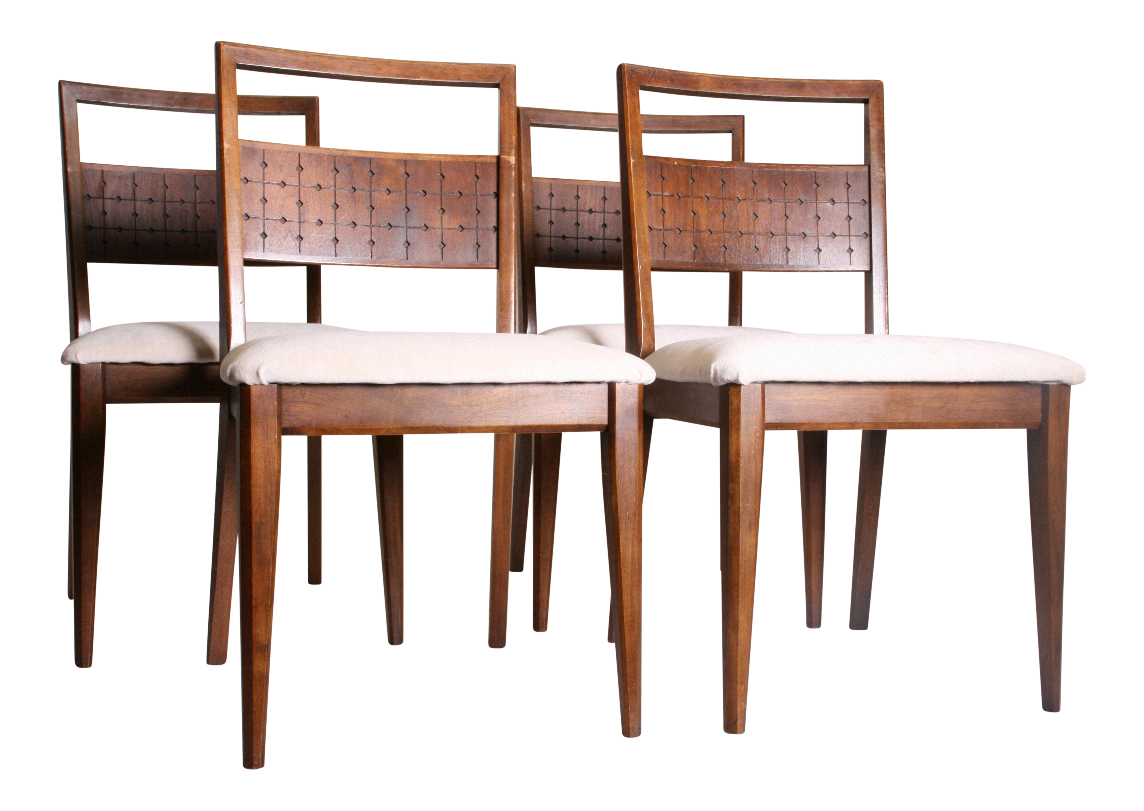 set of 4 dining chairs. Mid Century Modern Broyhill Saga Dining Chairs - Set Of 4