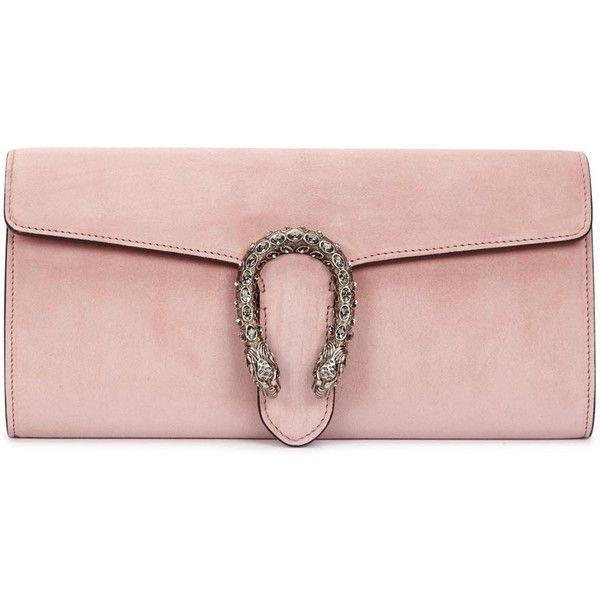 449e7bb6401f8 Womens Clutches Gucci Dionysus Light Pink Suede Clutch ( 1