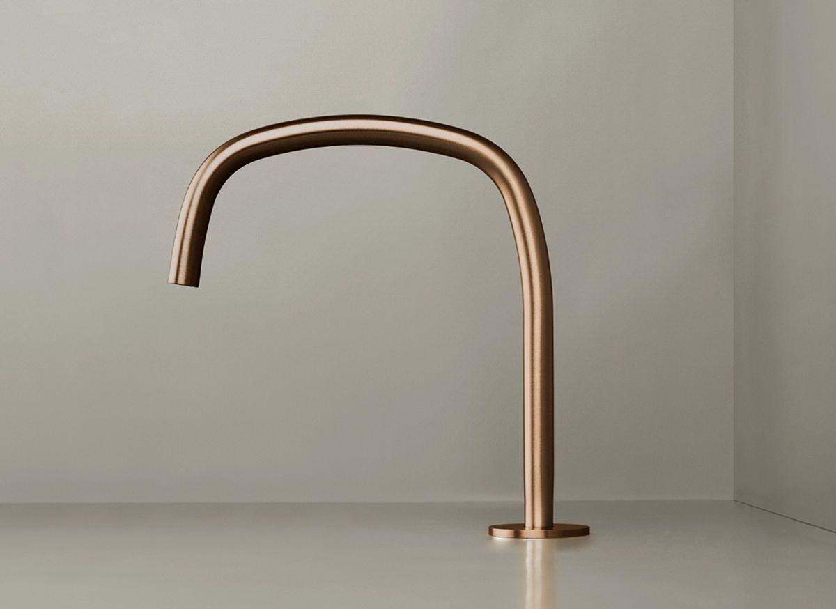 De nieuwe collectie badkamer kranen cocoon shape is ontworpen door