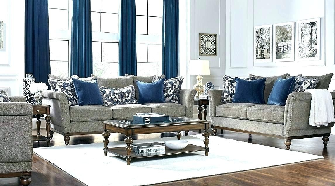 Gray Sofa With Blue Pillows Google Search Living Room Sets Affordable Living Room Set Contemporary Living Room Furniture