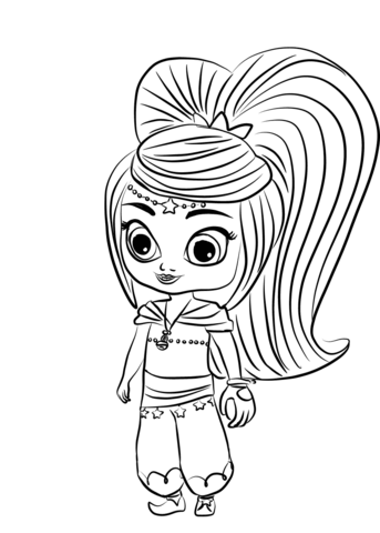 Shimmer And Shine Coloring Pages Movies And Tv Show Coloring Pages