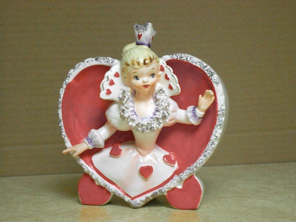 Vintage VALENTINE PLANTER Queen of Hearts Relpo A917 # ...