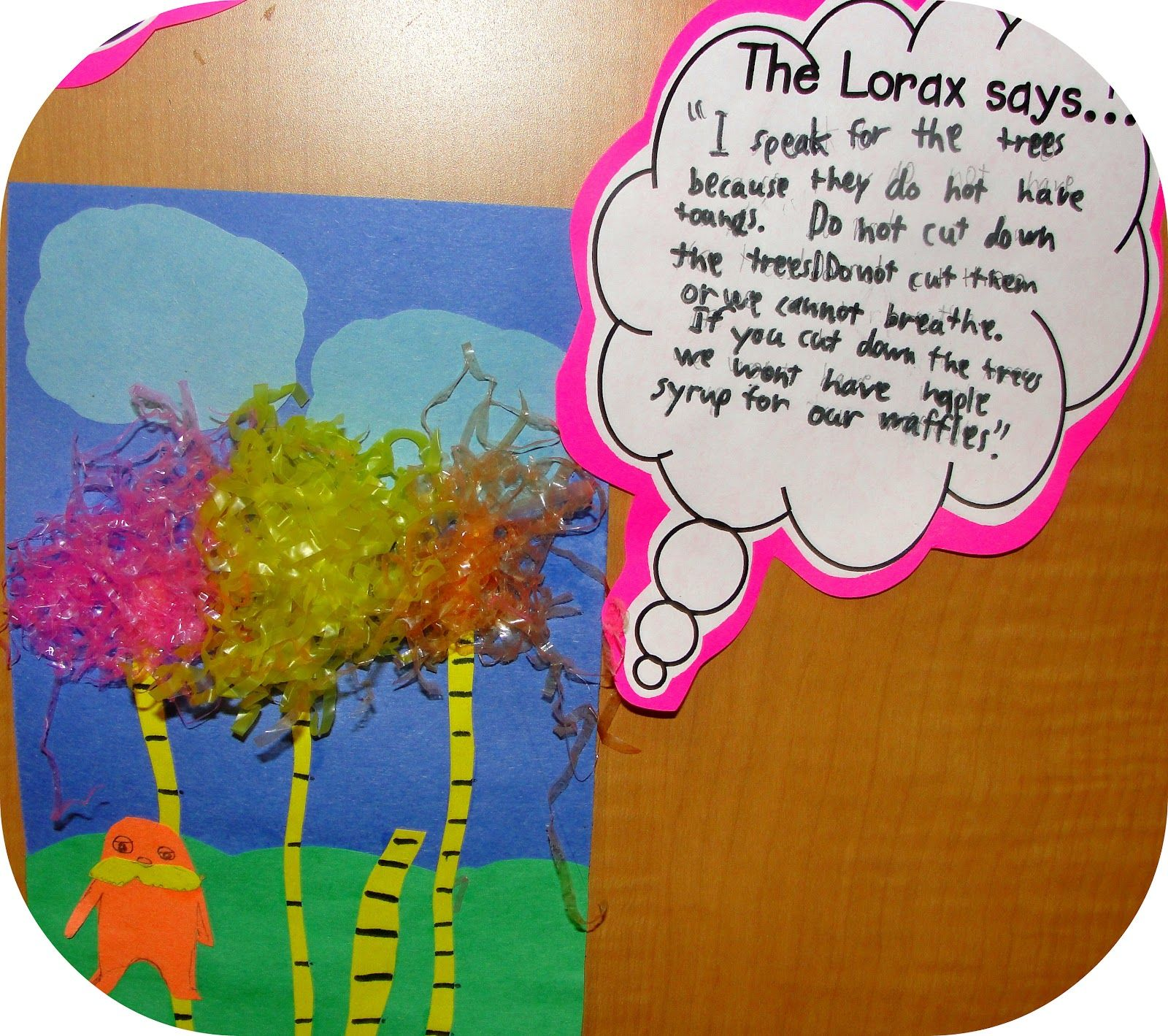 Lorax Art And Speech Bubbles With Images Seuss Classroom
