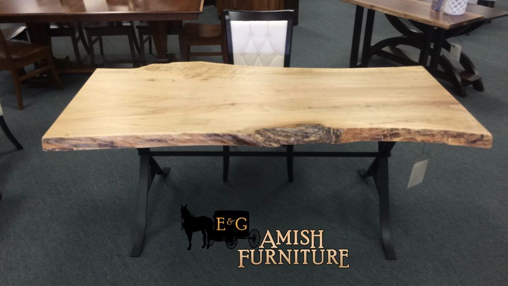 make your office a statement add this beautiful live edge desk rh pinterest com
