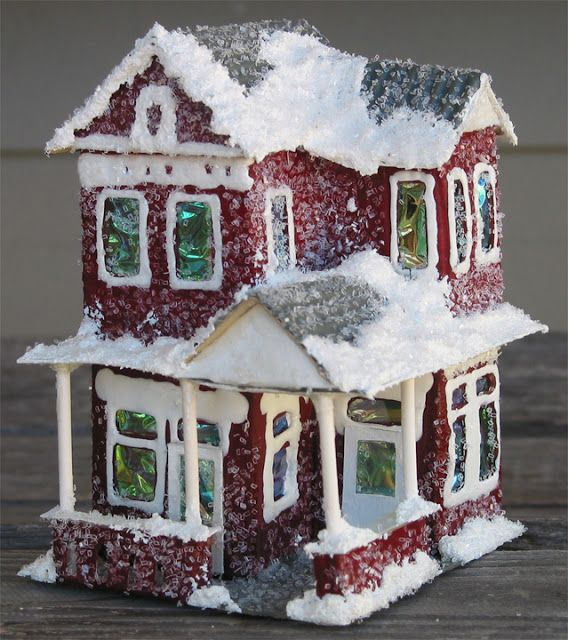 alamodeus holiday project christmas village houses putz houses rh pinterest com