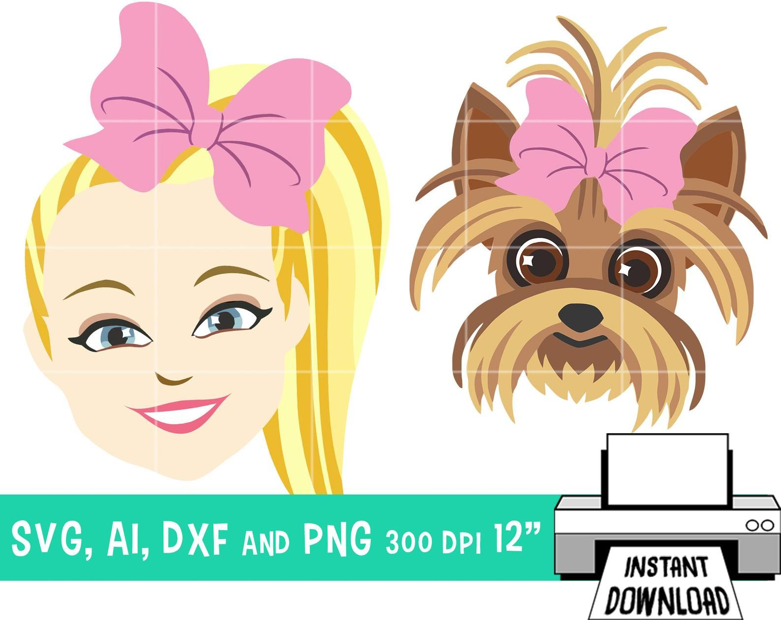 Jojo Siwa Bow Bow Show Clip Art 8 Images Png Svg Ai Dxf Etsy Jojo Siwa Bows Jojo Siwa Clip Art