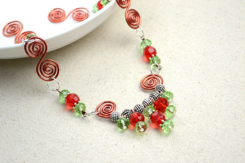Wire Spiral Jewelry Design 1