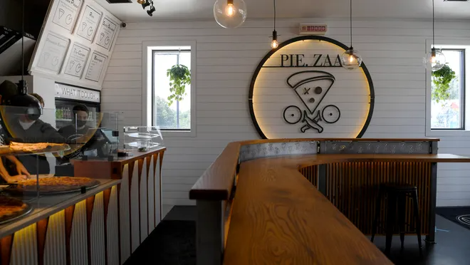 Giant Late Night Slices And Beer Pie Zaa Opens Labor Day Home Interior Home Decor