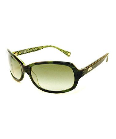 Take a look at this Coach Maya Bottle Green Sunglasses by Coach Sunglasses & Opticals on #zulily today!