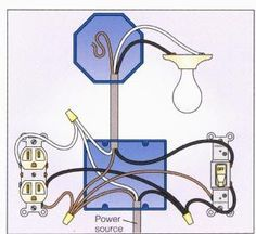 wiring a light switch to multiple lights and plug google search rh pinterest com