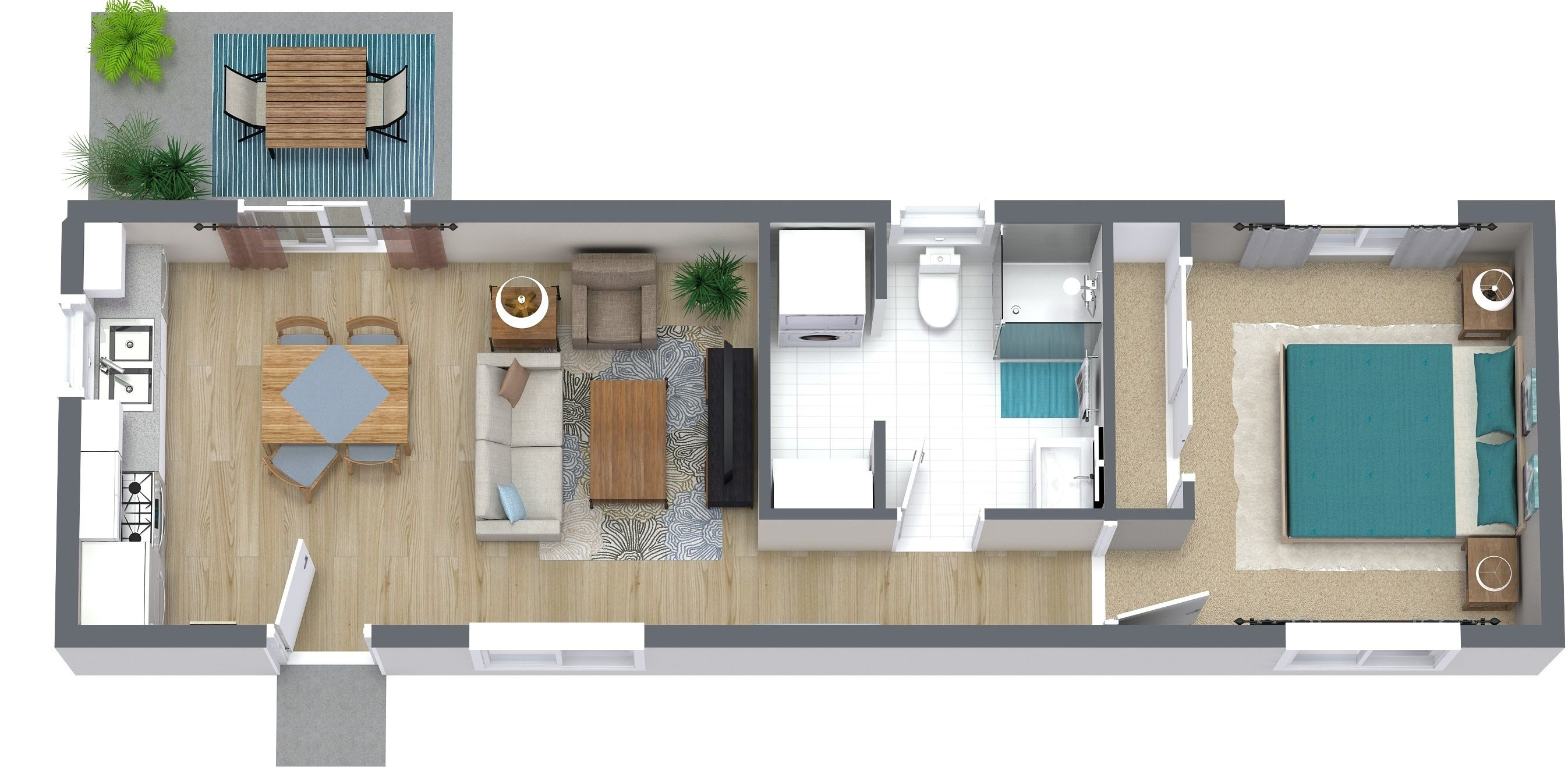 The Los Angeles 645sf Granny Flat