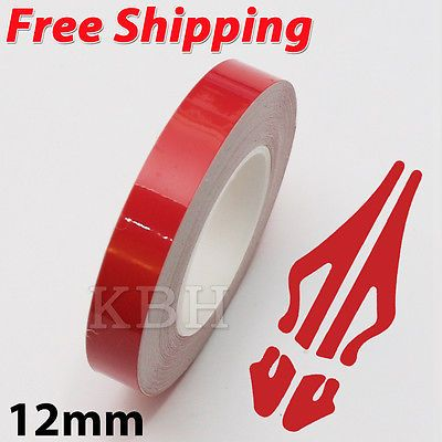 12mm 1 2 Pin Stripe Pinstriping Solid Line Tape Vinyl Decal Sticker Car Red Vinyl Decal Stickers Vinyl Decals Pinstriping