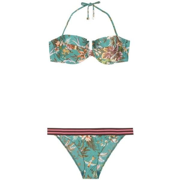 ba73f52e60a57 Zimmermann Tropicale Balconette Bikini ( 180) via Polyvore featuring  swimwear
