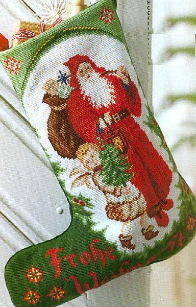 Pin de ggh en Punto de cruz, calcetines Santa | Pinterest | Punto ...