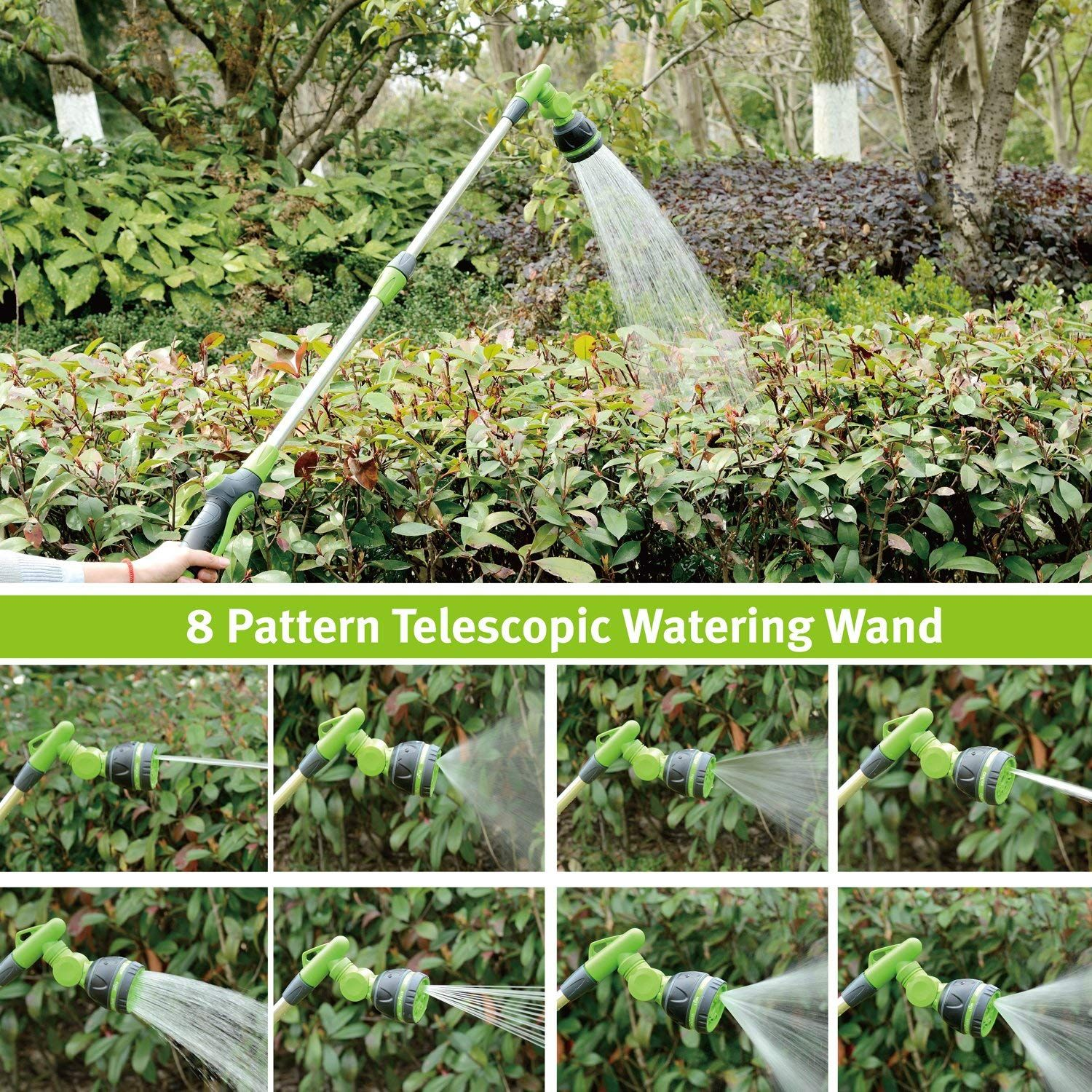 Expand And Contract Telescopic Watering Nozzle Spray Wand 33